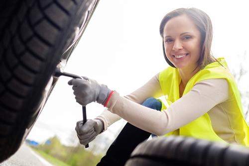 stres výmena pneumatiky