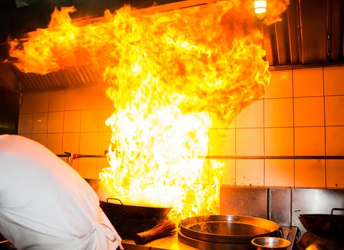 požiar v kuchyni