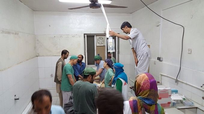 bombardovanie nemocnice v Kundúze zničené ordinácie
