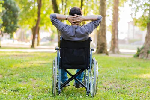 vozík pri detskej mozgovej obrne