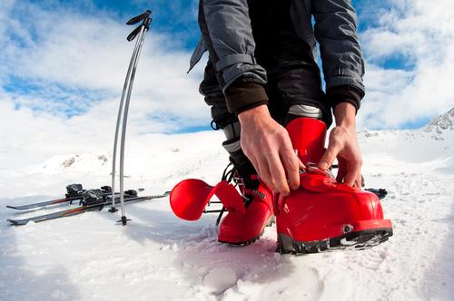otvorené zlomeniny lyžiarske viazanie