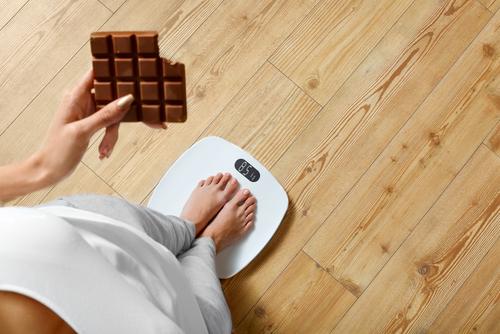 čokoláda priberanie