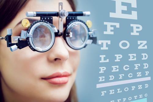 krátkozrakosť test