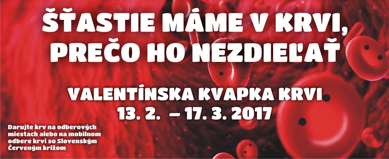 Valentínska kvapka krvi banner