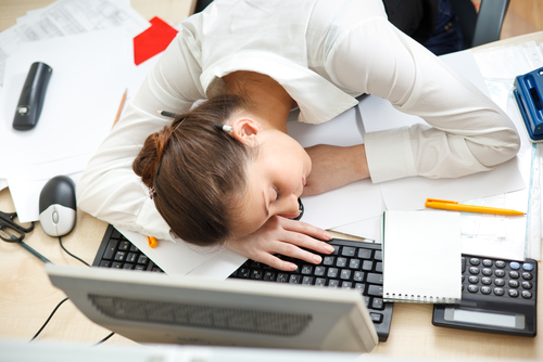 nadmerná únava ospalosť