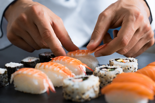japonská kuchyňa sushi príprava