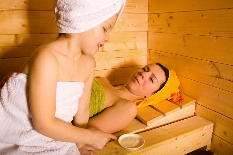 sauna a deti