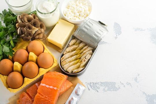 vitamín D3 v potravinách