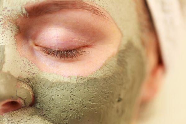 zelený íl maska