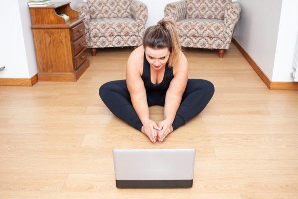 online cvičenie s nadváhou
