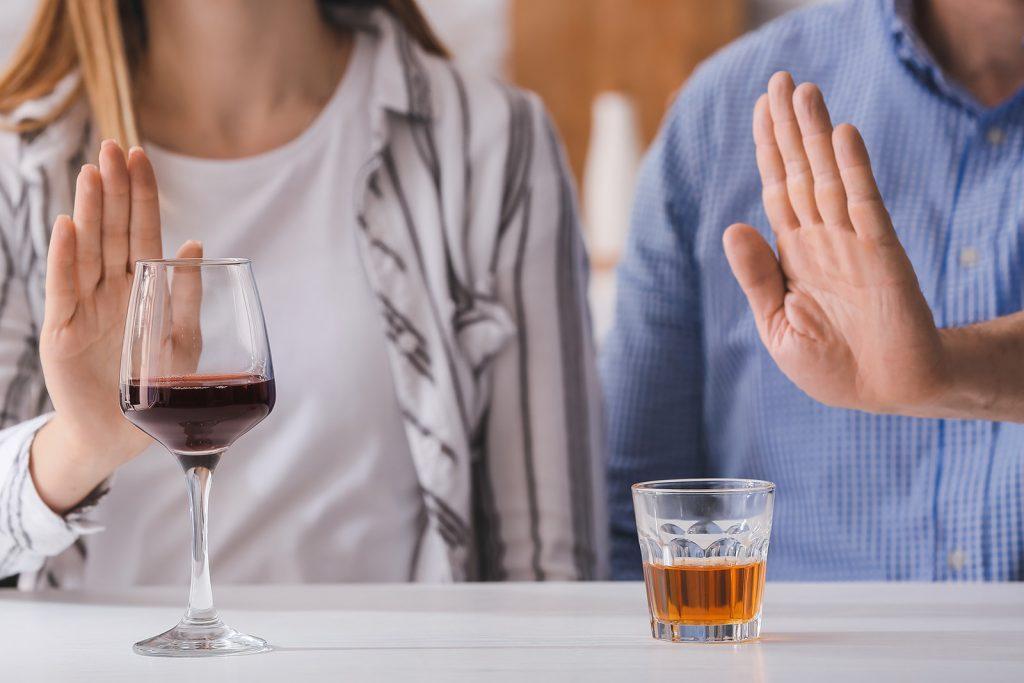 Odmietnutie alkoholu pri dne