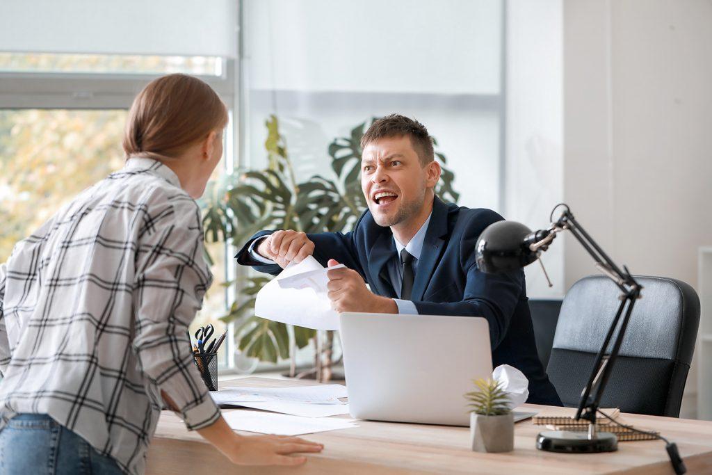 Konflikt v práci v manickej fáze