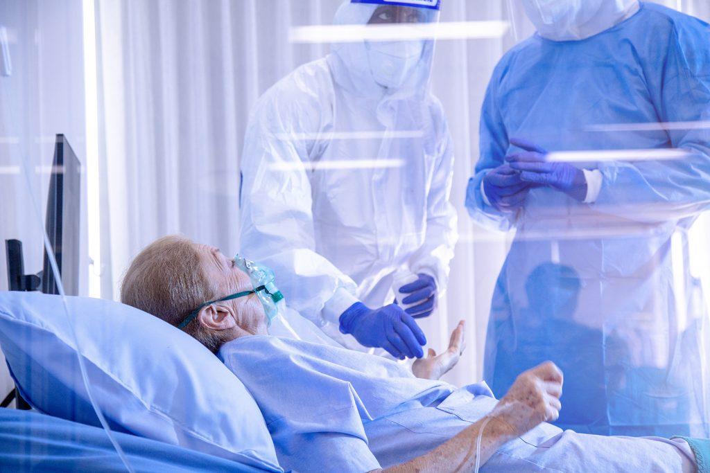 Pacientka v nemocnici